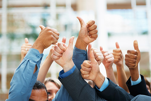Career Success is a Thumbs Up