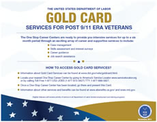 Image of Gold Card - Services for post 9/11 era veterans